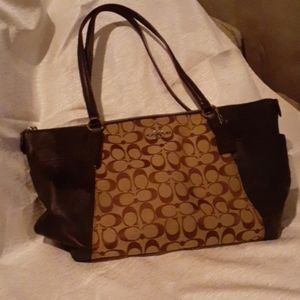 COACH Signature C large Brown leather purse